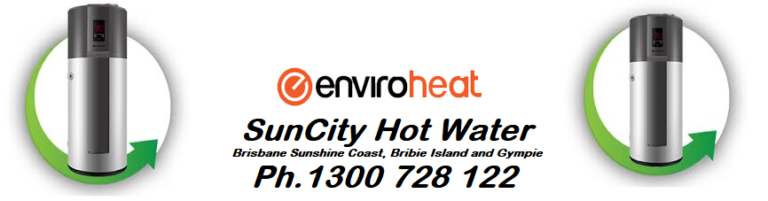 Enviroheat heat pump water heaters brisbane and sunshine coast, gympie and bribie island